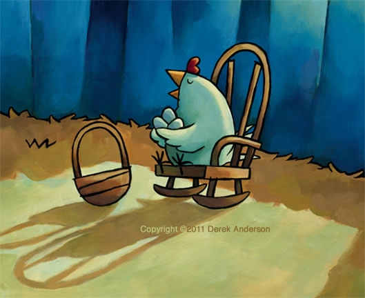 Chicken in Rocking Chair